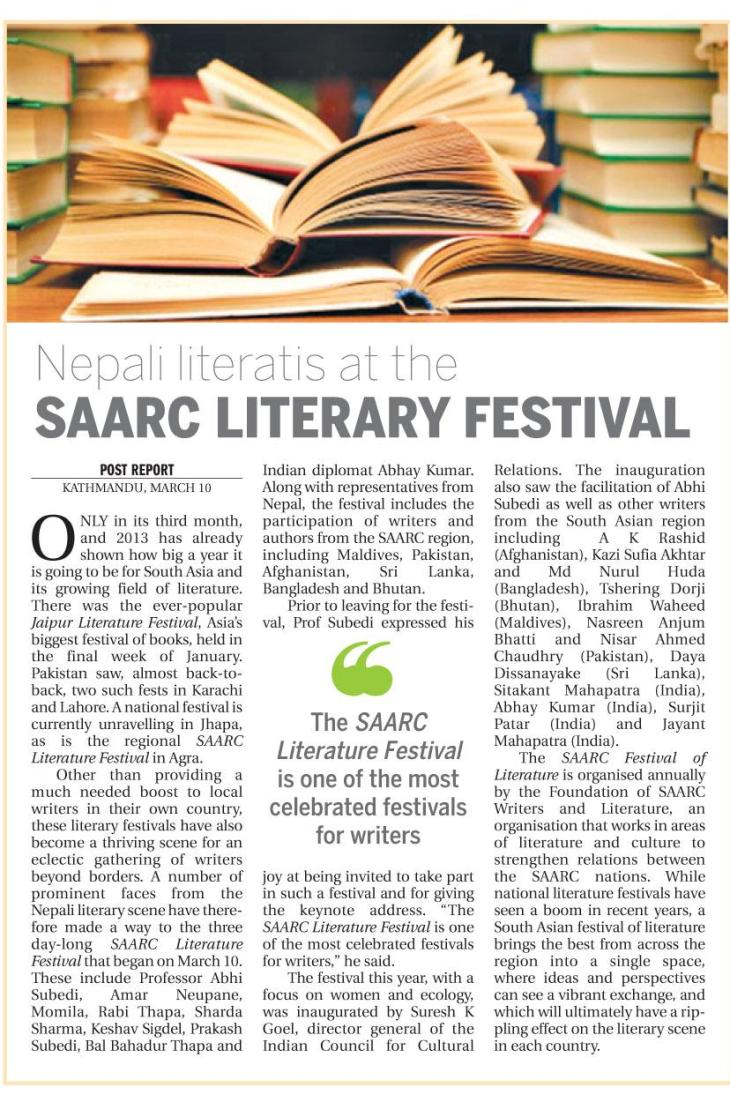 Ktm post SAARC Literary Festival